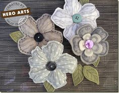 DIY Fabric Flowers.  Could totally see these dressing up some pillows on my screened porch.