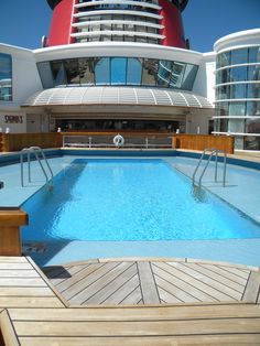 Adult only pool aboard the Disney Wonder Cruise Ship.. I would be stationed here with a drink in my hand at all times.