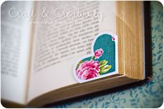 DIY Corner Hearts Bookmark - Design variation: use fabric or doodle on the hearts. You can also make this bookmark out of felt or faux leather. Click for tutorial.