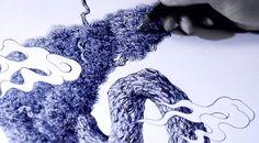 ballpoint pen drawings by shohei otomo - designboom | architecture