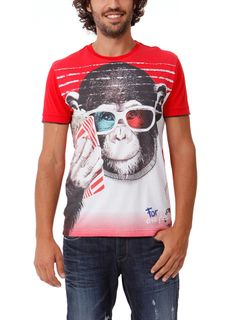 DESIGUAL Top MONKEY 3D rojo - 34,30€ : Fashion Monicapecado