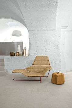 The Zanotta Lama Chaise Longue in the home of designers Ludovica & Roberto Palomba
