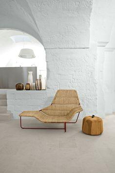 The Zanotta Lama Chaise Longue in the home of designers Ludovica & Roberto Palomba