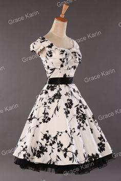 New Womens Vintage Rockabilly Retro Swing 50s 60s Pinup Housewife Dress s M L XL   eBay