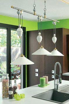 533 x 800 Dining Room Lighting, Kitchen Lighting, Room Lights, Ceiling Lights, Autumn Lights, Ceramics, Glass, Kitchen White, House