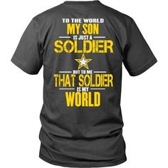Have a son in the Army? Show them how proud you are and how much you love them…