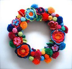virka krans restgran inspiration tips ide blommor blomsterkrans handarbete