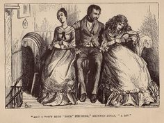 """Original Antique Engraving from 1800's. Dickens story, """"Martin Chuzzlewit"""" written 1843-44."""