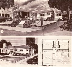 I have always loved looking at house floorplans, especially those from the twenties, thirties and forties...fun to imagine furniture placement...