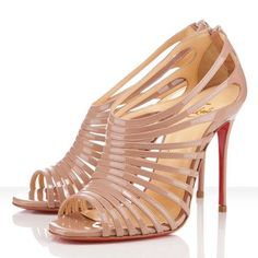 Christian Louboutin Multibrida 100mm Patent Leather Nude