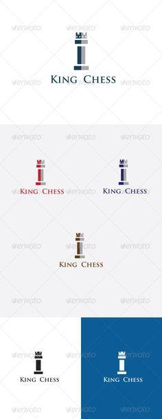 King Chess Logo Design