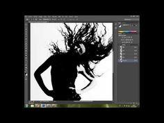 Extraccion de silueta por canales en photoshop - YouTube