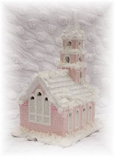 Pink Cottage Style Holiday Church back view