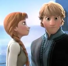 Kristoff and Anna! LOOK AT HIS FACE! XD #Kristanna