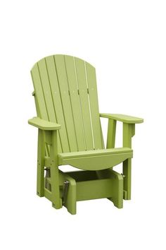 Amish Poly Fanback Chair Glider Get comfy outside with a rich and eco friendly Poly Fanback Chair Glider. Pick from lots of fun colors. This ultra durable outdoor furniture is low maintenance too!