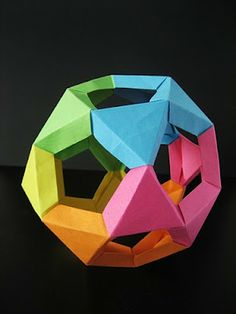 Origami Maniacs: Origami Cuboctahedrom with Jitterbug Modules by Tung Kem Lam