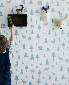 Bloesem shares this gorgeous wallpaper from Hibou Home. There's a whole heap more over there.