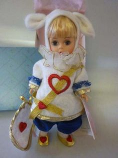 "Madame Alexander COURT HERALD 8"" White Rabbit in DOLL"