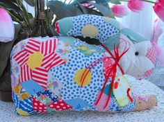 Vintage chenille Vintage Quilt Spring Bunny by thepinkpalace