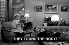 This is what happens when you are reading a suspense novel and the phone/doorbell rings. (I Love Lucy)