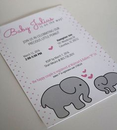 baby girl baby shower invite