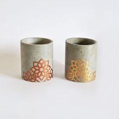 Smooth glass Cement Hand Painted and made de MicaRicaShop en Etsy