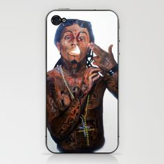 Lil Wayne High There  iPhone & iPod Skin by Christopher Chouinard - $15.00