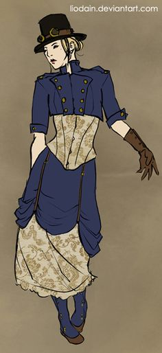 Edwardian steampunk.  (sadly the artist's Deviantart page is now inactive)