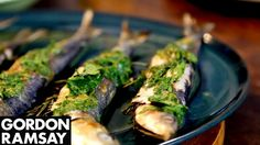 Orzo Pasta Salad with Grilled Sardines Gordon Ramsay Rezepte, Seafood Recipes, Cooking Recipes, Gourmet Cooking, Easy Recipes, Gremolata Recipe, Grilled Sardines, Sardine Recipes, Italian Lunch