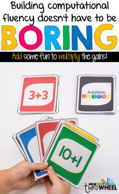 Fact fluency ideas for 2nd through 5th grade - Stop boring your students with math facts. Whether it is addition, subtraction, multiplication, or division, fact practice is more fun as a game. Perfect for math centers or stations!