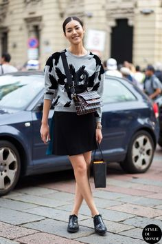 Liu Wen Street Style Street Fashion Streetsnaps by STYLEDUMONDE Street Style Fashion Blog