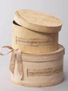 vintage ladies hat boxes