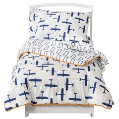 Great gift idea for my grandson's birthday. He will be moving to a toddler bed around his birthday. Toddler Bedding Set LICENSE NVY