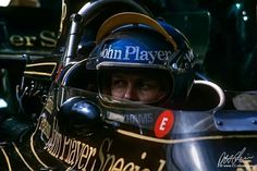Ronnie Peterson, John Player Special  Lotus, Monaco 1974.