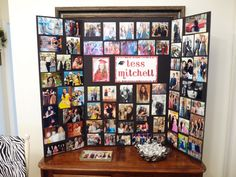 Photo memory board display that I made for Tess's Graduation party. I also placed some of her Senior pictures in a crystal dish for guests to take home.