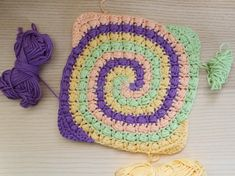 Bead Stitch Spiral Square