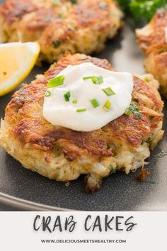 Simple and easy to make these fried crab cakes are so perfectly crispy and make for a wonderful appetizer. Super quick to prep. Top Recipes, Side Dish Recipes, Easy Dinner Recipes, Breakfast Recipes, Simple Recipes, Breakfast Ideas, Baking Recipes, Dinner Ideas, Shellfish Recipes