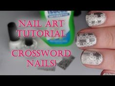 these crossword nails are so cool! i would like to try this sometime