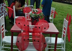 Tables at a Ladybug Party #ladybug #partytable