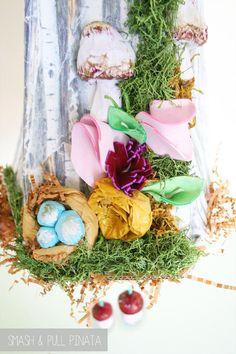 Cuckoo Clock Pinata | Woodland Party | Birch Wood Art | Shabby Chic | Robins Nest Egg | Little Bird | Modern Wall Hanging | Acorn Art
