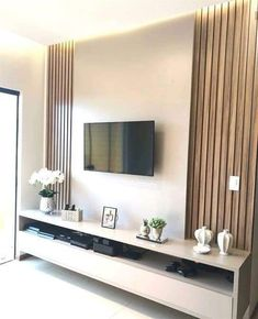 Minimalist Living Room Ideas - Planning to enhance and also fine-tune your living space? Here minimalist living-room that will motivate your spring-cleaning efforts. Living Room Tv Cabinet Designs, Living Room Cabinets, Living Room Designs, Living Room Decor, Tv Cabinets, Kitchen Living, Living Rooms, Mdf Fendi, Tv Wall Decor