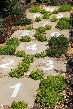 Hopscotch Garden.  Awesome way to incorporate play into a stunning garden. #ChooseDreams #ad