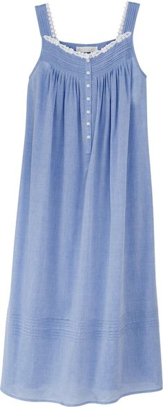 Women's Eileen West Chambray Ballet Nightgown Femininely Inspired Chambray In An Easy-Wearing Gown From Eileen West Share Your Story  NOW: $54.99