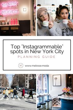 Top Instagrammable spots in New York City | Travel blog | Packing for NYC | Traveling NYC | Traveling to another city | New York City | Soho | Manhattan | Travel planning guide | Coffee shops New York City | Restaurants NYC http://www.melrose.moda/blog/nyc Tap the link now to find the hottest products to take better photos!