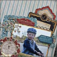 """Here is a close-up of all of the wonderful components she used from """"French Country"""" from Graphic 45."""