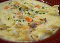 Recette : Soupe crémeuse à la dinde ou au poulet.