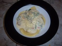 Cheese Ravioli Alfredo. Had something very similar at Olive Garden. Best meal ever.