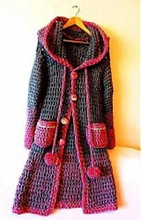 cute crochet sweater: plan to make someday! See other ideas and pictures from the category menu…. Faneks healthy and active life ideas Crochet Coat, Crochet Jacket, Crochet Cardigan, Cute Crochet, Beautiful Crochet, Crochet Shawl, Crochet Yarn, Crochet Clothes, Crochet Stitches