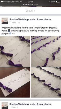Wedding invites from https://m.facebook.com/Sparkle-Weddings-105768253100632/?refsrc=https%3A%2F%2Fm.facebook.com%2FSparkle-Weddings-105768253100632%2F