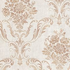 Manor Fog Floral Damask Wallpaper Brewster Wallcoverings Copper Grays Acanthus Leaf Damask Floral & Plants Traditional, Non Woven, Easy to clean , Easy to wash, Easy to strip Paisley Wallpaper, Metallic Wallpaper, Embossed Wallpaper, Paper Wallpaper, Wallpaper Roll, Motif Baroque, Copper And Grey, Wallpaper Warehouse, Contemporary Wallpaper